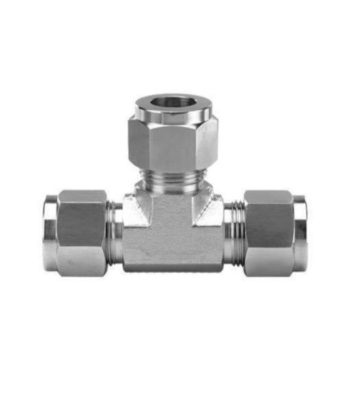 Compression fitting stainless steel tee Tetrapy