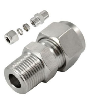 Compression fitting stainless steel male connector Tetrapy