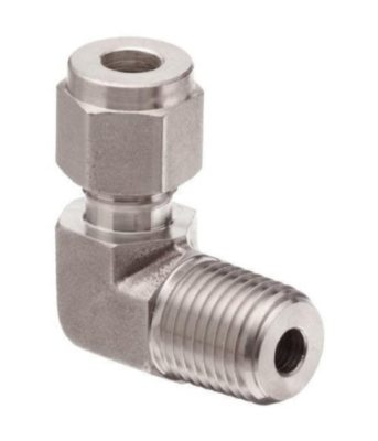 Compression fitting stainless steel union male elbow Tetrapy